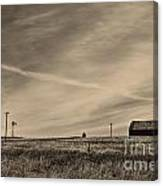 An Abandoned Nebraska Barn Canvas Print