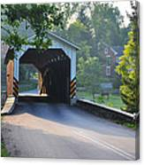 Neff's Mill Covered Bridge Lancaster County Canvas Print