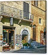 Negozi Toscani Canvas Print