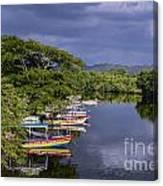 Negril River Canvas Print