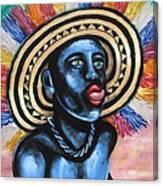 Negrito In Carnival 2 Canvas Print