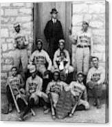 Negro Baseball Canvas Print