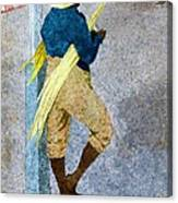 Negro Man Stripping Cane Jamaica Canvas Print