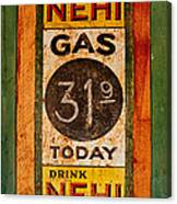 Nehi And Gas Sold Here Canvas Print