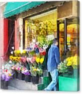 Neighborhood Flower Shop Canvas Print