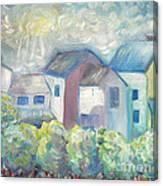 Neighborhood In Light Canvas Print