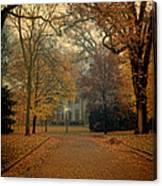 Neighborhood Street In Autumn Canvas Print