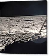 Neil Armstrong On The Moon - 1969 Canvas Print