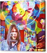 Neil Young-crazy Horse Canvas Print