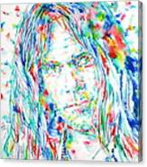 Neil Young - Watercolor Portrait Canvas Print