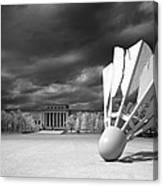 Nelson Akins Art Museum In Infrared Canvas Print