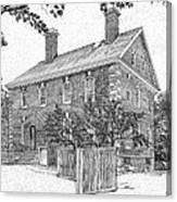 Nelson House In Yorktown Virginia IIi Of IIi Canvas Print