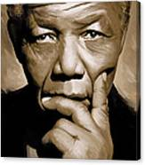 Nelson Mandela Artwork Canvas Print