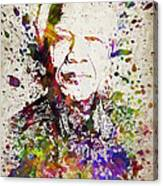 Nelson Mandela In Color Canvas Print