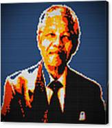 Nelson Mandela Lego Pop Art Canvas Print
