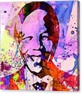 Nelson Mandela Watercolor Canvas Print