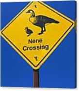 Nene Crossing Sign Haleakala National Park Canvas Print