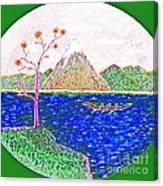 Neno Boat Fudzi Canvas Print