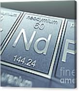 Neodymium Chemical Element Canvas Print