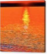 Neon Beach Sunset Canvas Print