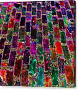 Neon Brick Canvas Print
