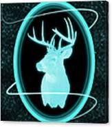 Neon Buck Canvas Print