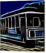 Neon Cable Car Canvas Print