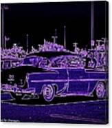 Neon Chevy Blues Canvas Print