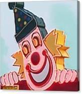 Neon Clown Canvas Print