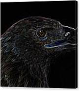 Neon Eagle Canvas Print