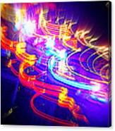 Neon Explosion Canvas Print