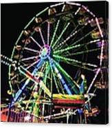 Neon Ferris Wheel Canvas Print