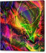 Neon Filigree Canvas Print