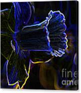 Neon Flowers Canvas Print