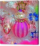 Neon Holiday Tree Canvas Print