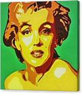 Neon Marilyn Monroe  Canvas Print