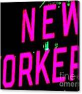 Neon New Yorker Canvas Print