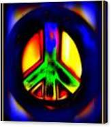 Neon Peace Canvas Print