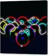 Neon Pool Balls Canvas Print