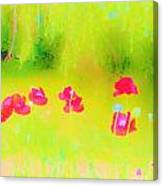 Neon Poppies Canvas Print