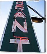 Neon Restaurant Sign Canvas Print
