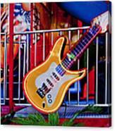 Neon Rock N Roll Canvas Print