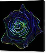 Neon Rose 5 Canvas Print