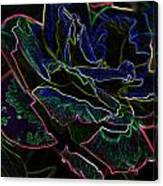 Neon Rose Canvas Print