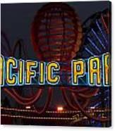 Neon Sign At Pacific Park At Santa Monica Canvas Print