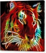 Neon Tiger Canvas Print