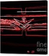 Neon Truck Grill Canvas Print