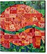 Nepalese Elephant Canvas Print