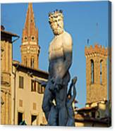 Neptune Statue - Florence Canvas Print