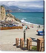 Nerja Beach In Spain Canvas Print